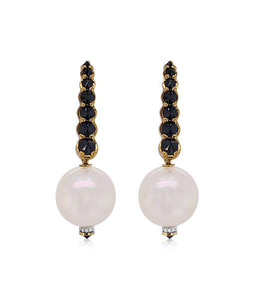 Ara Vartanian Pearl and Diamond Earrings
