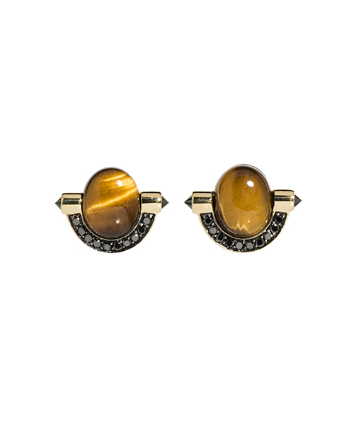Ara Vartanian Tiger Eyes Diamond Earrings