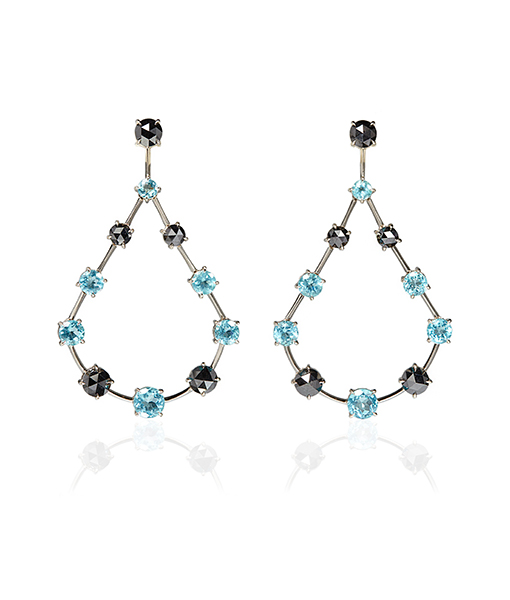 Ara Vartanian Apatite Black Diamond Earrings