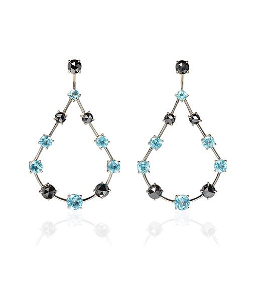 Ara Vartanian Apatite Black Diamond Earrings