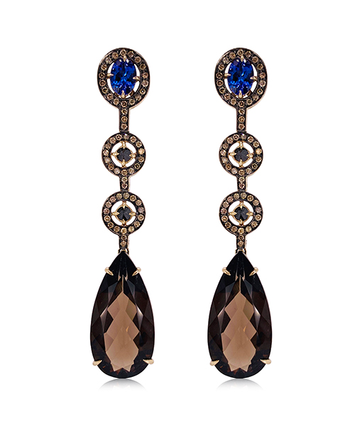 Ara Vartanian Quartz and Tanzanite Earrings
