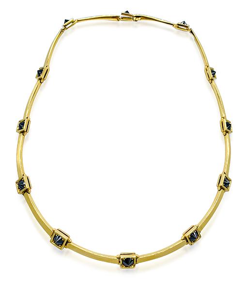 Ara Vartanian Inverted Black White Diamonds Necklace