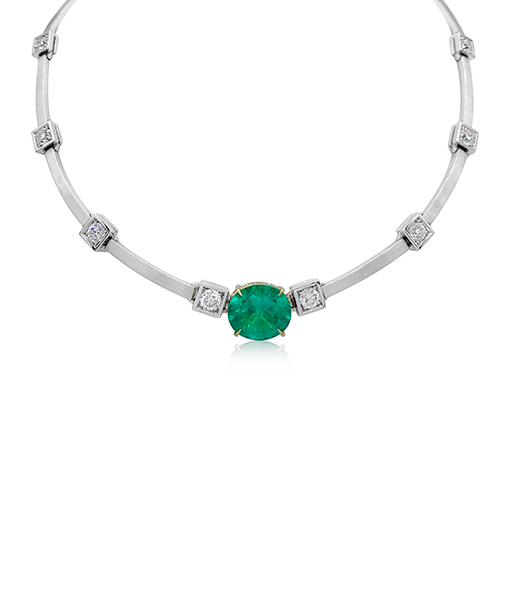 Ara Vartanian Emerald and Diamond Necklace