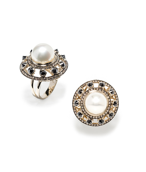 Ara Vartanian South Sea Pearl Diamond Ring