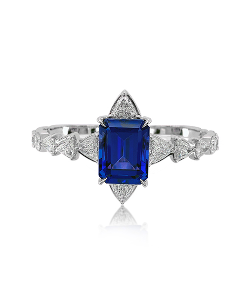 Ara Vartanian Tanzanite Two-Finger Ring