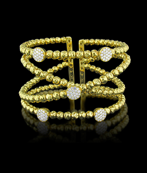 Damaso Four Row Flexible Diamond Bracelet