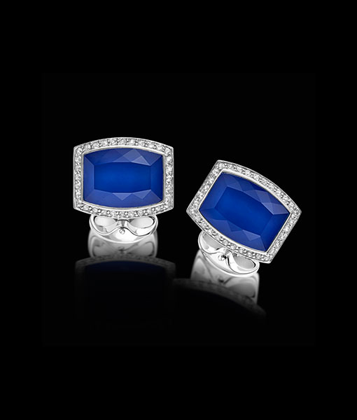 Deakin & Francis Blue Barrel Shape Cufflinks