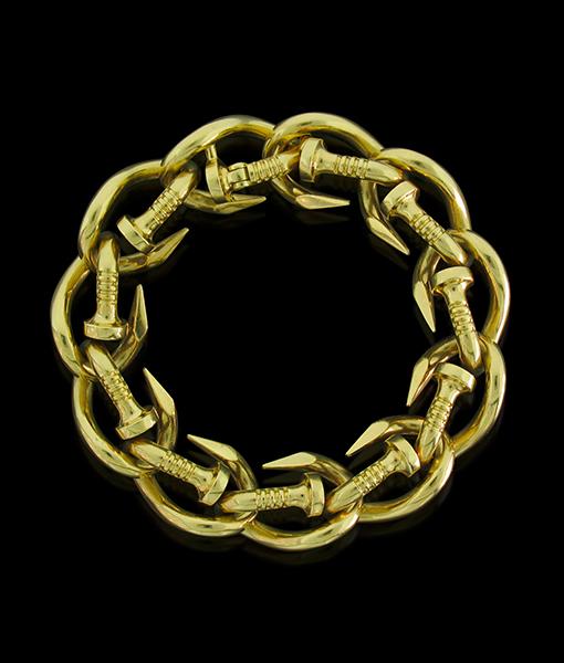 David Webb Nail Link Bracelet