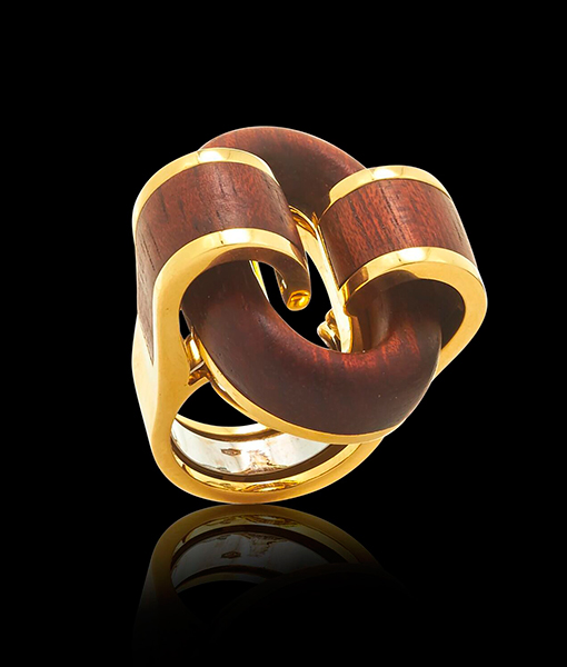 David Webb Woodworks Collection Bloodwood Ring