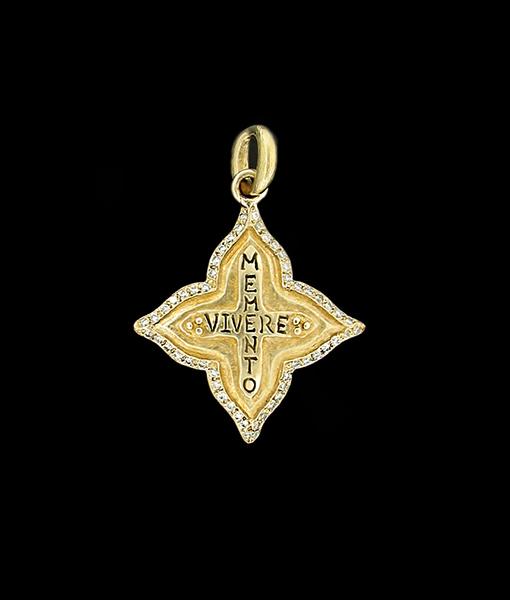 """Erica Molinari """"Remember To Live"""" gold & Diamond Pendant"""