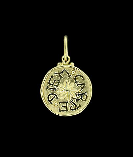 """Erica Molinari """"Seize The Day"""" Gold Pendant"""
