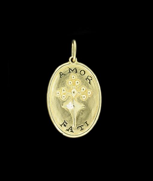 """Erica Molinari """"Love of Fate"""" Gold Pendant"""