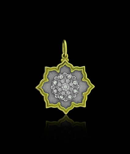 Erica Molinari Diamond Lotus Pendant