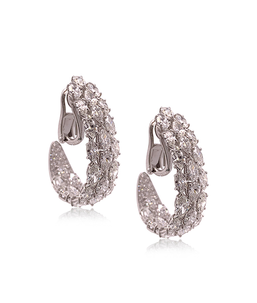 Etho Maria Diamonds Earrings Hoops