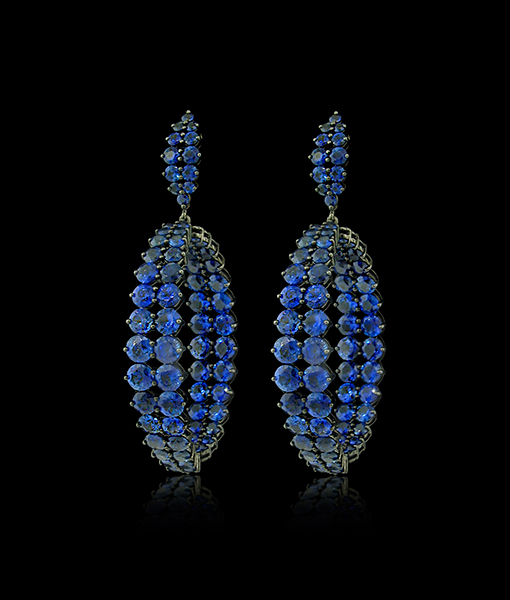 Etho Maria Blue Sapphire Earrings