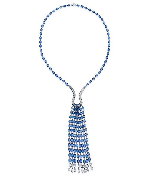 Etho Maria Blue Saphire Diamond Necklace