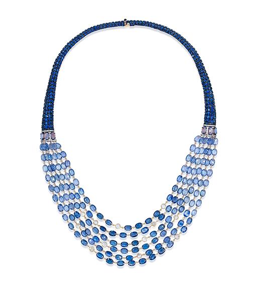 Etho Maria Blue Sapphire Diamond Necklace