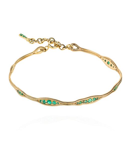 Fernando Jorge Fluid Emerald Bracelet