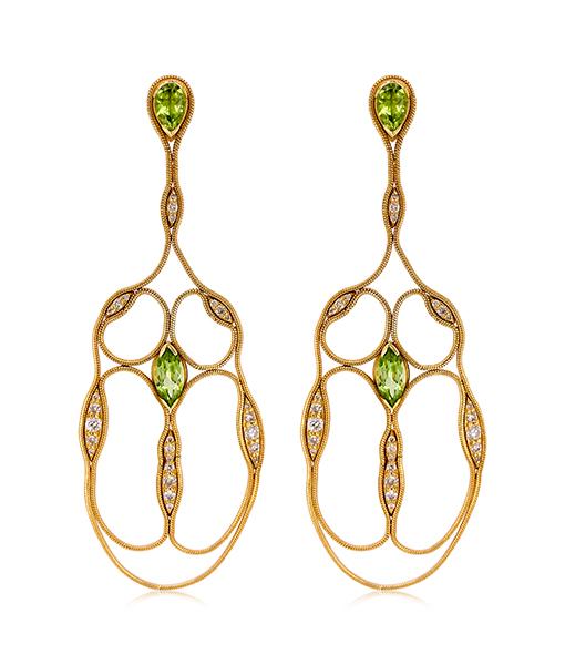 Fernando Jorge Fluid Diamond Cross Earrings