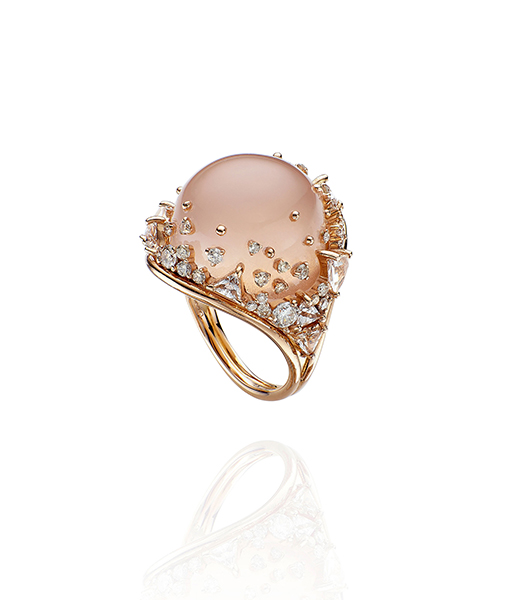 Fernando Jorge Diamond Ring Topaz Rose Quartz