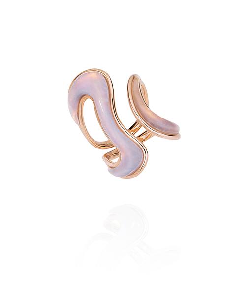 Fernando Jorge Stream Pink Opal Open Ring