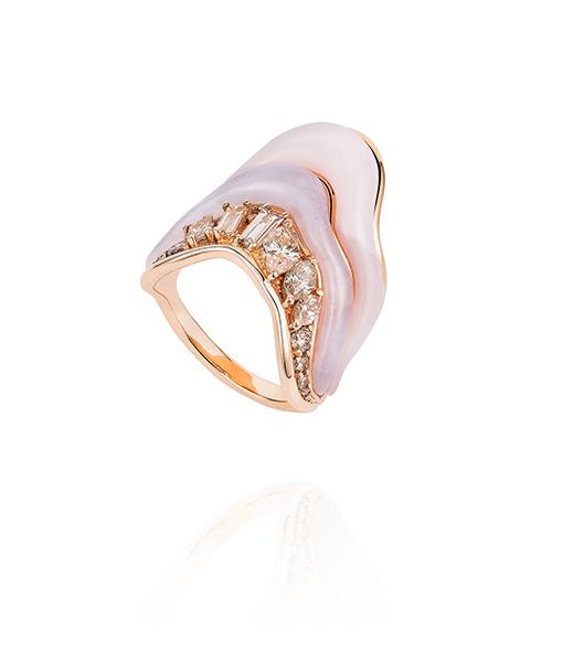 Fernando Jorge Pink Opal Diamond Ring