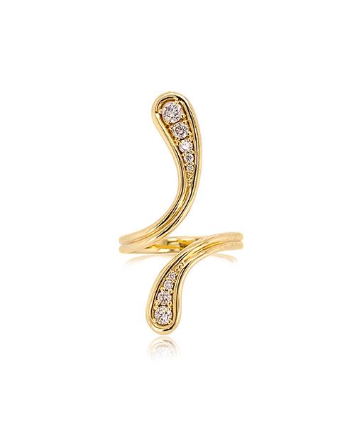 Fernando Jorge Fluid Diamond Long Ring