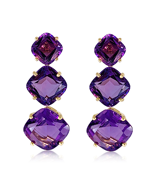 "Goshwara ""Gossip"" Amethyst Earrings"