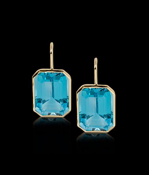 Goshwara Blue Topaz Earrings