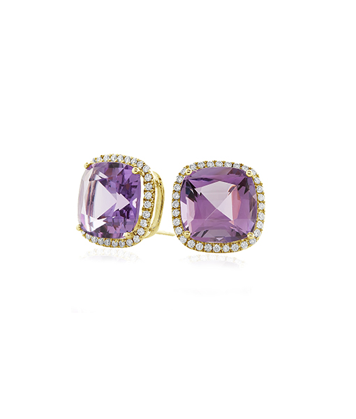 Goshwara Amethyst Diamond Earrings