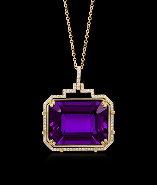 Goshwara Amethys Diamond Pendant
