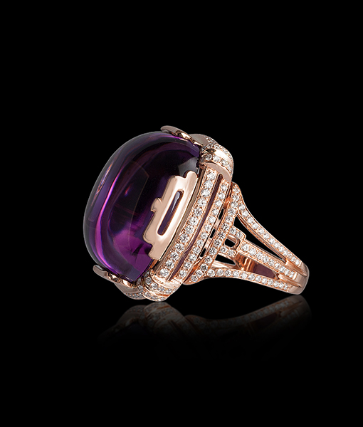 Goshwara Amethyst Diamond Ring