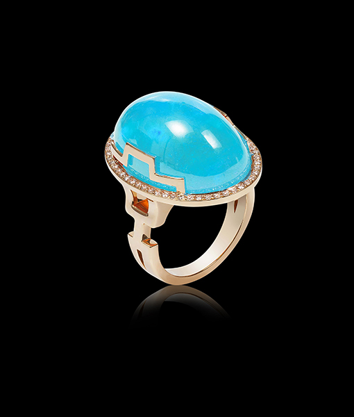 Goshwara Oval Sleeping Beauty Turquoise Ring