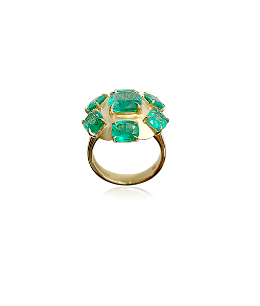 Goshwara Emerald Diamond Ring