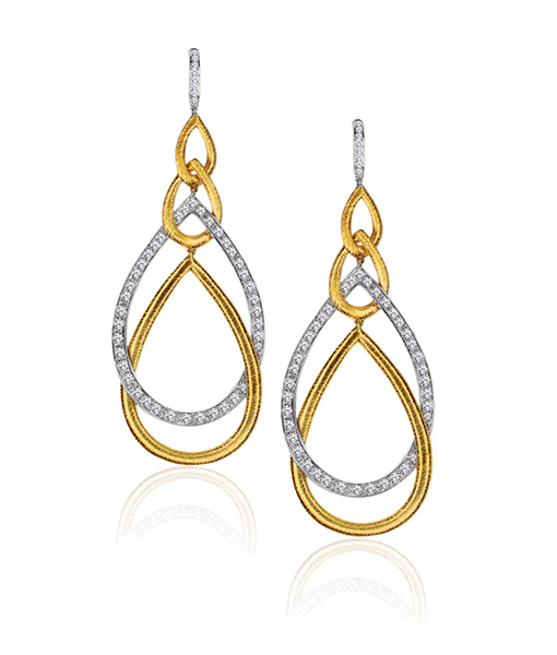 Gumuchian Peacock Two -Tone Gold and Diamond Earrings