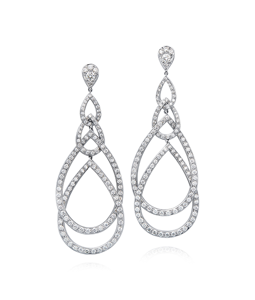 Gumuchian Peacock Diamond Earrings