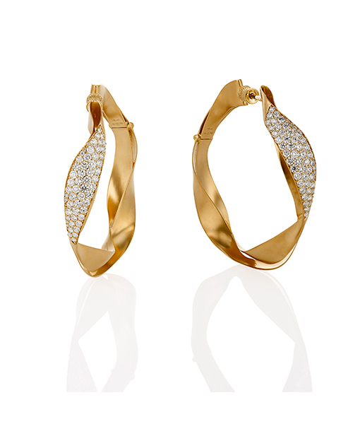 Hueb Dunas Diamond Hoops
