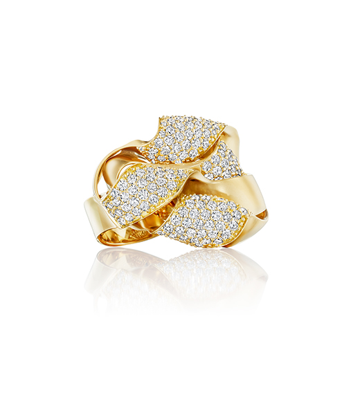 Hueb Dunas Diamond and Gold Twist Ring