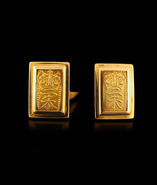 Jorge Adeler Isshu Samurai Coin Cufflinks