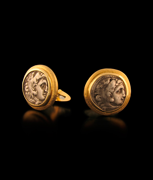 Jorge Adeler Authentic Alexander The Great Coin Cufflinks