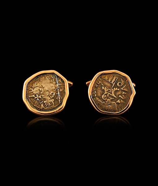Jorge Adeler Authentic Count Dracul Coin Cufflinks