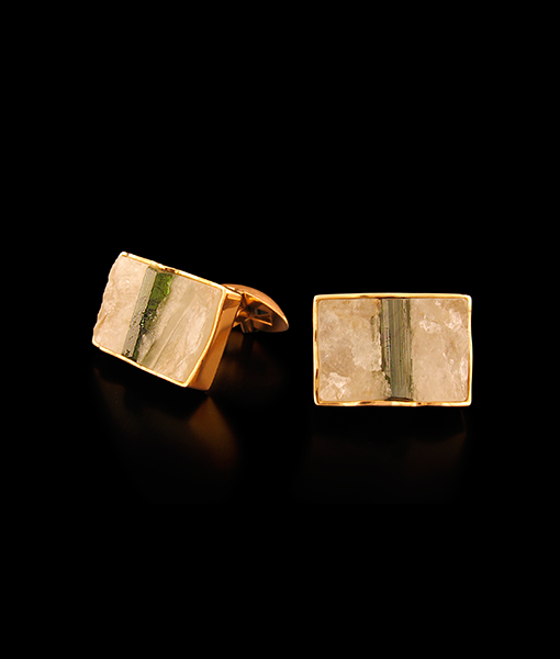 Jorge Adeler Row Quartz Cufflinks