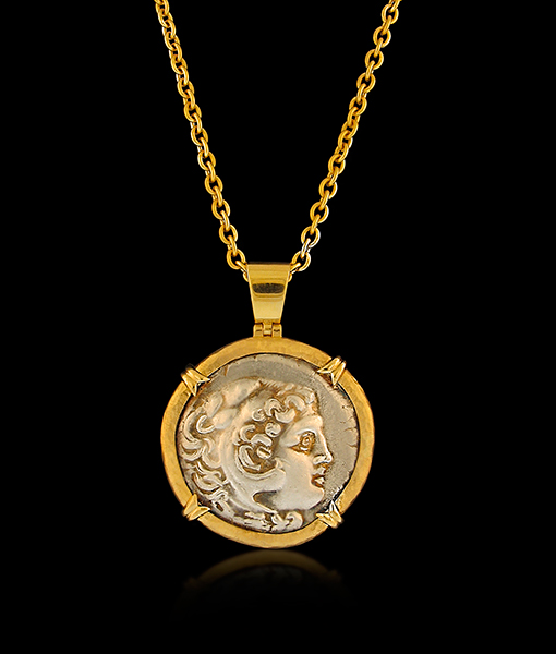 Jorge Adeler Alexander The Great Coin Pendant