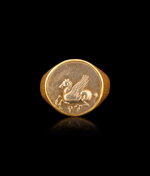 Jorge Adeler Pegasus Coin Ring