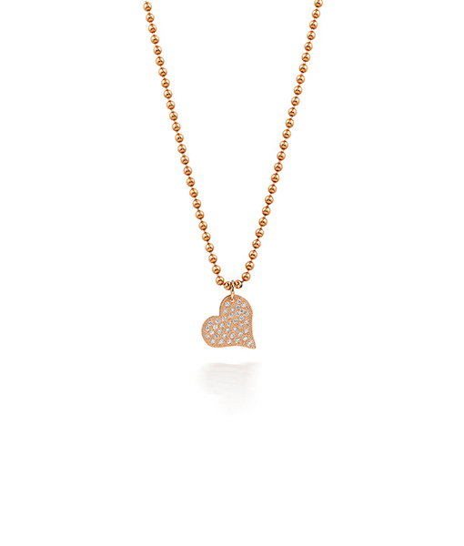 Julez Bryant Heart Pendant Pave Diamonds Chain