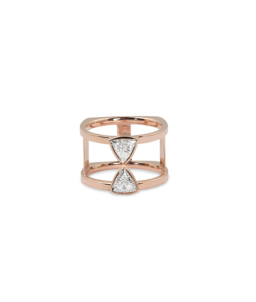 Julez Bryant Todd Rose Gold Ring with Diamonds