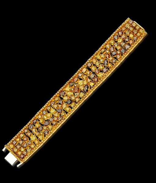 Boutique Designers Natural Multicolor Diamond Bracelet