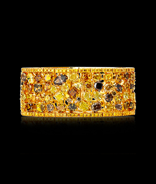 Boutique Designers Natural Multicolor Diamond Bracelet