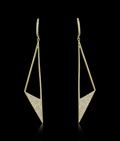 KC Dangle Diamond Earrings