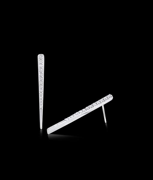 KC Designs Gold & Diamond Twist Line Earrings